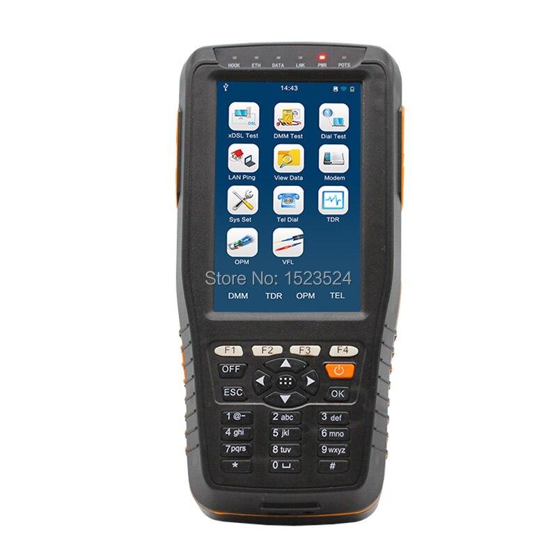TM-600 VDSL VDSL2 Testeur ADSL WAN & LAN Testeur xDSL Test Equipment avec toutes les fonctions (OPM + VFL + Tone Tracker + TDR)