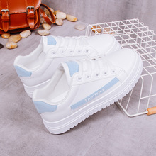 2019 New Spring Summer Women Casual Flats White Vulcanized Shoes Female Platform Lace Up Sneakers Walking Woman Shose Plus Size 2019 new spring summer women casual flats white vulcanized shoes female platform lace up sneakers walking woman shose plus size