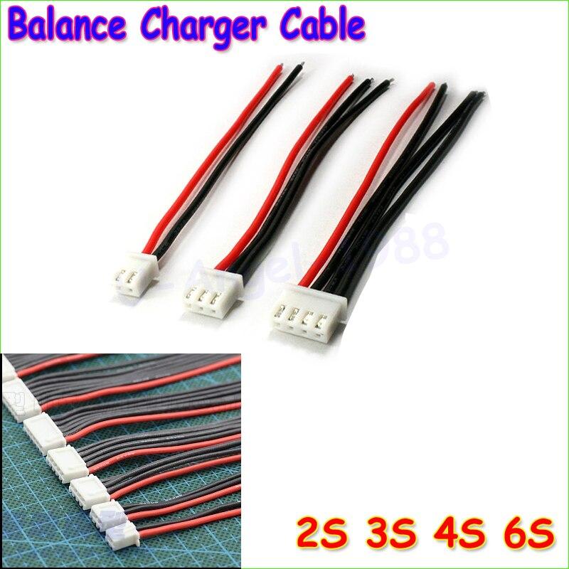 10 шт./лот 2S1P 3S1P 4S1P 5S1P 6S1P JST-XH jst xh адаптер разъем баланс чейнджер проволочной Зарядное устройство кабель для lipo батарея