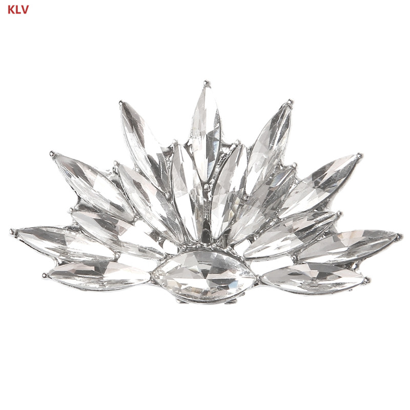 все цены на KLV 1 piece Alloy Rhinestone Shoes Clips Bridal Wedding Shoes Decoration Floral Fashion Women Accessories
