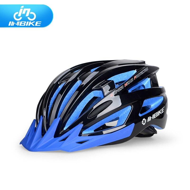ФОТО INBIKE Cycling Helmet Bike Bicycle Helmet  MTB Head Circumference 54-61cm 6 Colors Bike Accessories  24 Vents free shipping