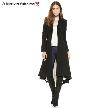 European style Long Sleeve Casual Long Trench