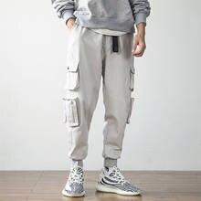 Men Hip Hop Pants Streetwear Fashion Cargo Pant Casual Pants Male Harem Trousers Jogger Sweatpants Men Pants With Side Pocket цена