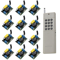 AC220V 1CH 10A Remote Control Light Switch Relay Output Radio Receiver Module 1000m Long Distance 315Mhz