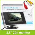 """Venda de Mini 3.5 """"TFT LCD Monitor de Retrovisor Do Carro Com Canais De Entrada De Vídeo Para Câmera de Visão Traseira Reversa"""
