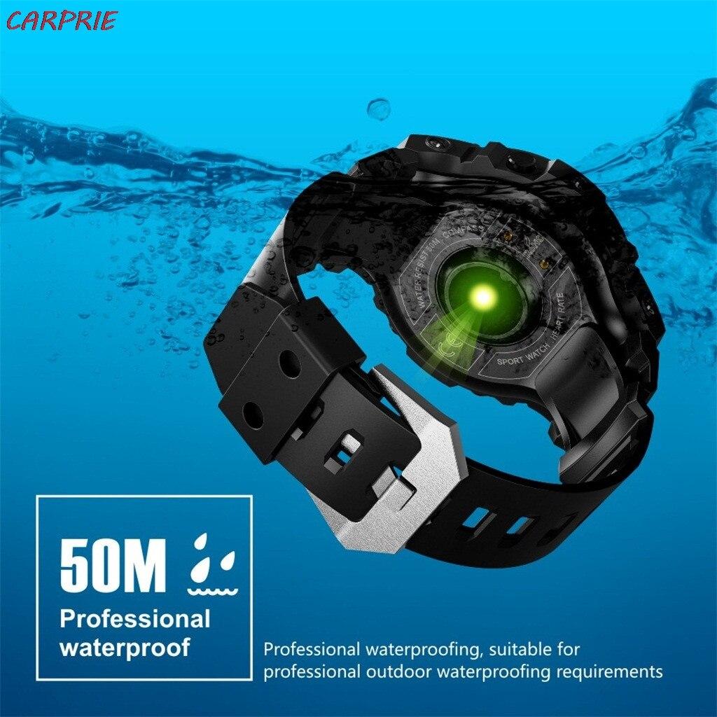 CARPRIE S816 hommes sport montre intelligente IP68 étanche Fitness Tracker dynamique fréquence cardiaque boussole chronomètre réveil Z30418