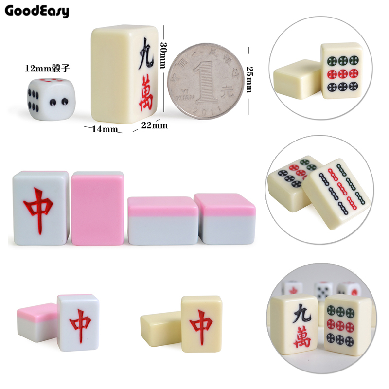 30mm Traveling Mini Mahjong Set Mahjong Games Home Games Chinese Funny Family Table Board Game 2 color option magnetic international chess pieces set folding table games board 36x31cm king 7 2cm funny family game 2017 ajedrez size xl