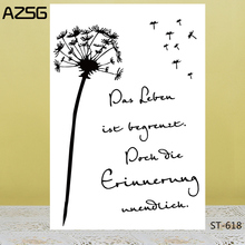 AZSG Dandelion Story Clear Stamps For DIY Scrapbooking/Card Making/Album Decorative Silicon Stamp Crafts