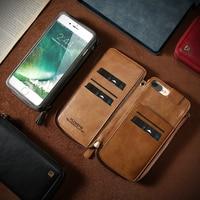 Floveme кожаный бумажник чехол под старину Бизнес многофункциональный 2 в 1 телефон сумка с карт памяти для iPhone 6, 6 S 7 8 плюс