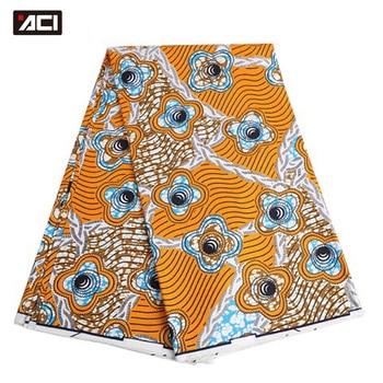 ACI Veritable Wax Hollandais African Ankara Fabric 6 Yards/Piece Veritable Super Wax Hollandais African Fabric Batik For Women 1