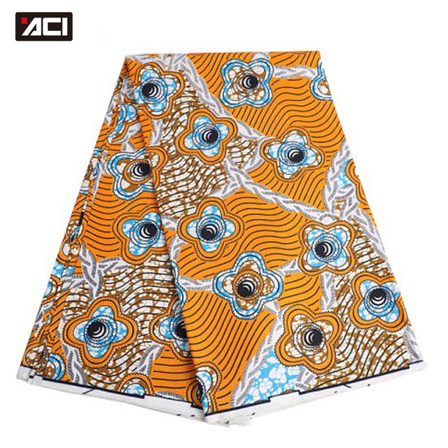 ACI Veritable Wax Hollandais African Ankara Fabric 6 Yards/Piece Veritable Super Wax Hollandais African Fabric Batik For Women 1