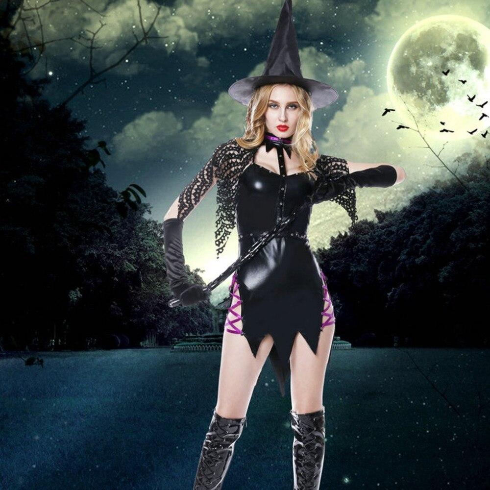 One Set Halloween Costumes font b For b font font b Women b font Magic Witch