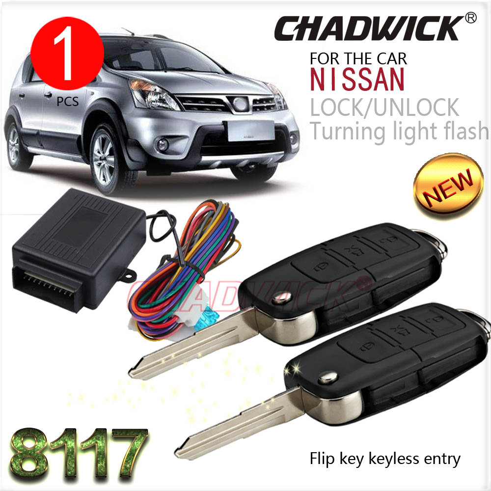 Flip key for nissan #22 blank key Keyless Entry System car remote Central Door Lock locking CHADWICK 8117 car styling 2 fold key flip key remote keyless entry system for hyundai car 12v central lock locking system with led indicator chadwick 8118 car alarm