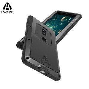 Image 5 - Aşk Mei Metal Kasa Sony Xperia XZ3 XZ2 XZ1 Kompakt XA2 Ultra 1 10 Artı XZ Premium Zırh Darbeye Dayanıklı telefon kılıfı Sağlam Kapak