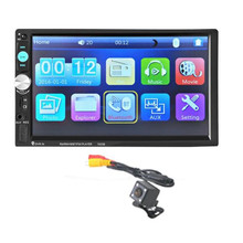 G1 New Bluetooth Car Stereo Audio In-Dash Aux Input Receiver SD/USB MP5 Player + Camera 7023B Car Styling Electronic Accessories