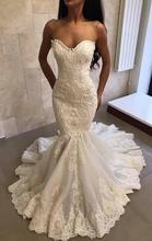 luxury Lace Beaded Vintage Wedding Dresses sweetheart Bridal gown mermaid dress 2019 vestido de noiva robe mariee