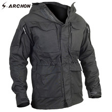 S.ARCHON New M65 Waterproof Military Pilot Jackets Men Windbreaker Camouflage Tactical Field Jacket Male Hooded Pocket Army Coat(China)