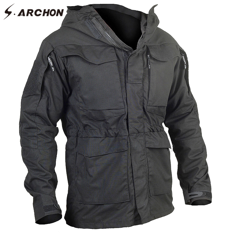 S.ARCHON New M65 Waterproof Military Pilot Jackets Men Windbreaker Camouflage Tactical Field Jacket Male Hooded Pocket Army Coat