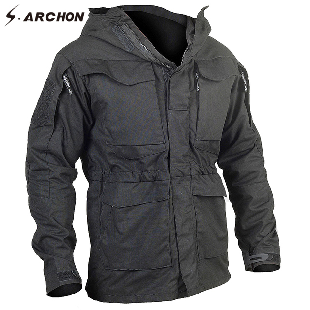 S.ARCHON New M65 Waterproof Military Pilot Jackets Men Windbreaker  Camouflage Tactical Field Jacket Male Hooded Pocket Army Coat ab64d6e20b2