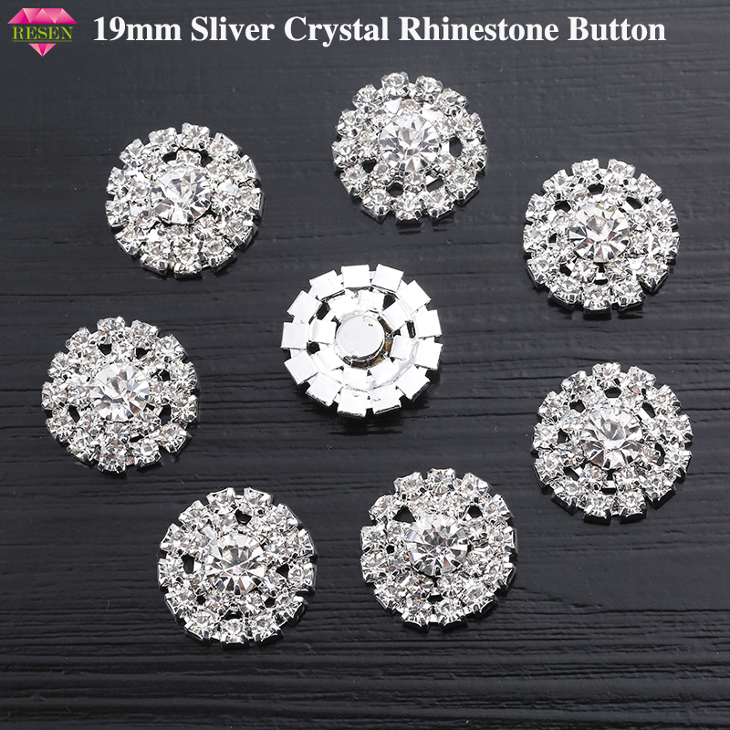 New Mink Fur Rhinestones Button Clothing Coat Diy Decorative Buttons Glass Drill Button Clothing Accessories Buttons Ideal Gift For All Occasions Buttons Arts,crafts & Sewing
