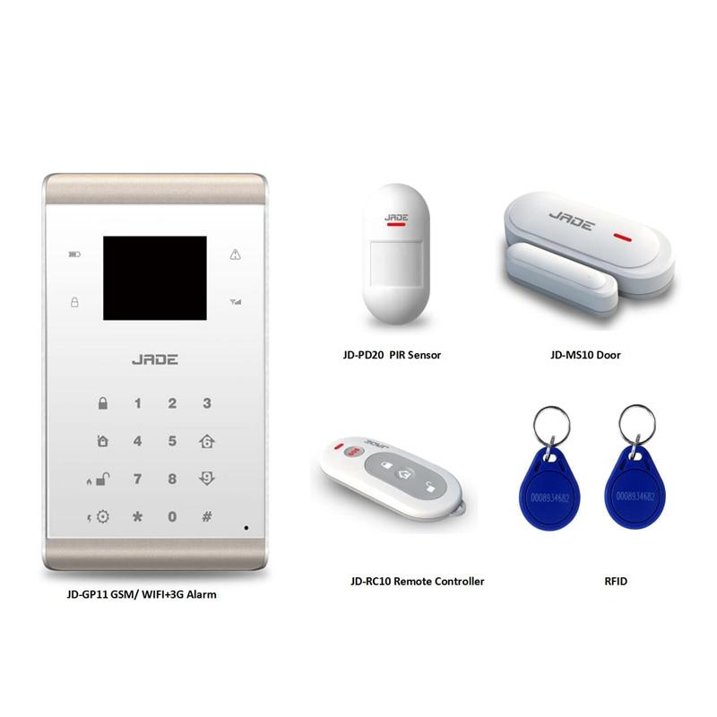 JADE APP Control GSM WIFI 3G Security Alarm & Intruder Alarm System Wireless Home Security alarm system!433/868 MHz датчики сигнализации homi security 868 7 gsm hg008
