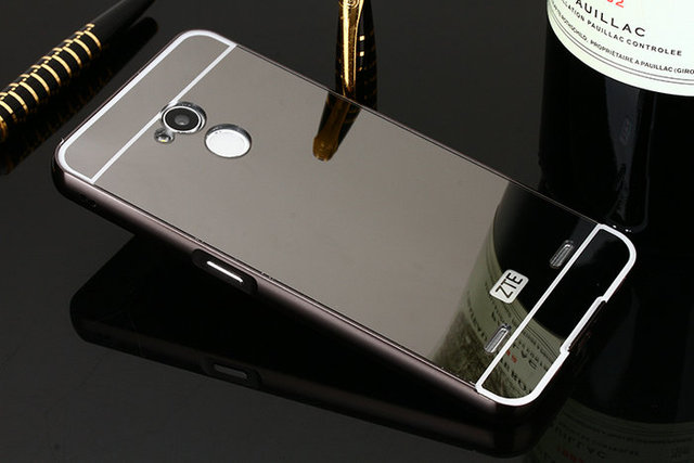 designer fashion a6f99 4ec03 US $2.8 |High Quality For ZTE Blade V7 Lite Metal Mirror Case Mirror PC  back panel + Aluminum Frame Metal cover case on Aliexpress.com | Alibaba  Group