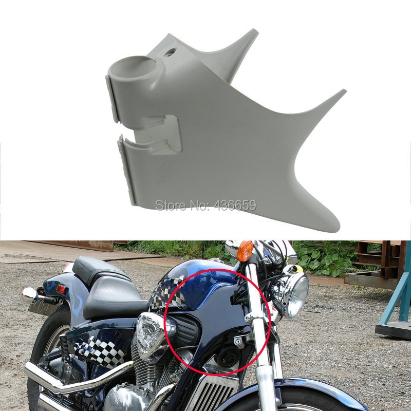 Motorcycle ABS Plastic Frame Neck Cover Cowl For Honda Shadow VT600 VLX 600 STEED400 New for 88 98 honda shadow vt600 vlx 600 steed 400 motorcycle abs plastic frame neck cover cowl wire covers side frame guard black