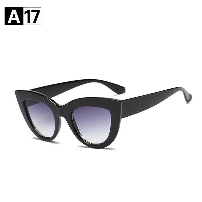 [A17] marque 2018 Femmes Cat Eye lunettes de Soleil Femmes Marque Designer Lunettes de Soleil Cateye Femme Lunettes Oculos De Sol Feminino Vintage