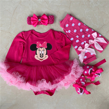 Newborn Baby Girl Clothes Infant Clothing Christmas Baby Costumes Romper Dress Minnie Mickey Cosplay Party Outfit Bebes Jumpsuit цены