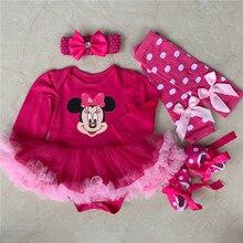 8c9dbc21a8e14 Nouveau-né Bébé Fille Vêtements Vêtements Pour Bébés De Noël Bébé Costumes  Barboteuse Robe Minnie Mickey Cosplay Partie Tenue Be.