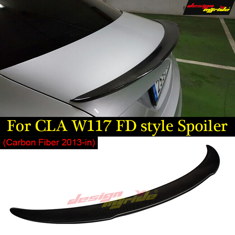 CLA W117 Tail Spoiler Carbon fiber FD Style cf rear trunk spoiler wing For Mercedes Benz