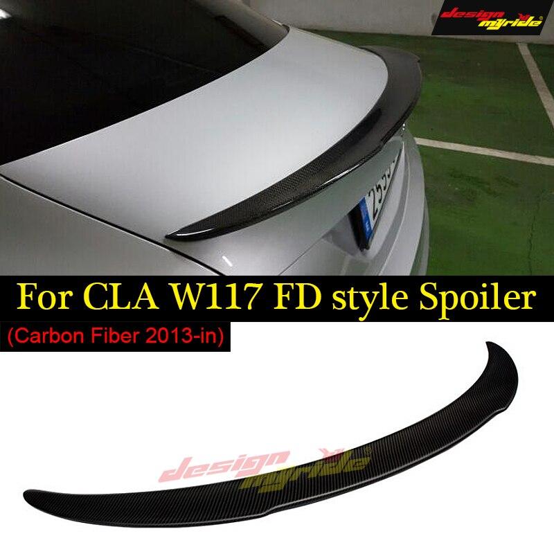 CLA W117 Tail Spoiler Carbon fiber FD Style cf rear trunk spoiler wing For Mercedes Benz CLA180 CLA200 CLA250 CLA A45 AMG 13-18CLA W117 Tail Spoiler Carbon fiber FD Style cf rear trunk spoiler wing For Mercedes Benz CLA180 CLA200 CLA250 CLA A45 AMG 13-18