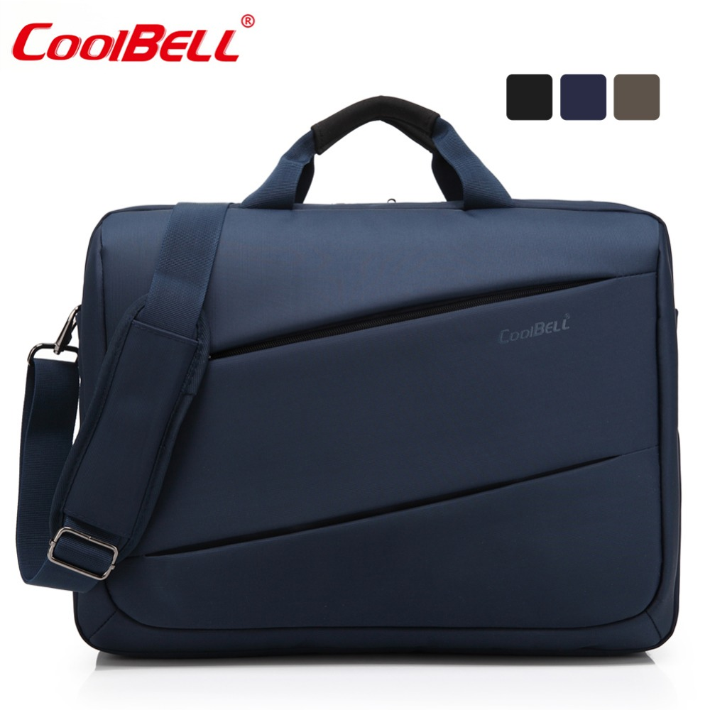 CoolBell 17.3 inch Nylon Laptop Bag Large Capacity Business Men Briefcase Shoulder Bag for / Macbook/ Lenovo/ Men/ Women