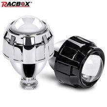 Universal 2,5 Zoll WST Mini Scheinwerfer Projektor Len H4 H7 Buchse Für DIY Nachrüstung Lampe Motorrad Hohe Abblendlicht Verwenden h1 HID Birne