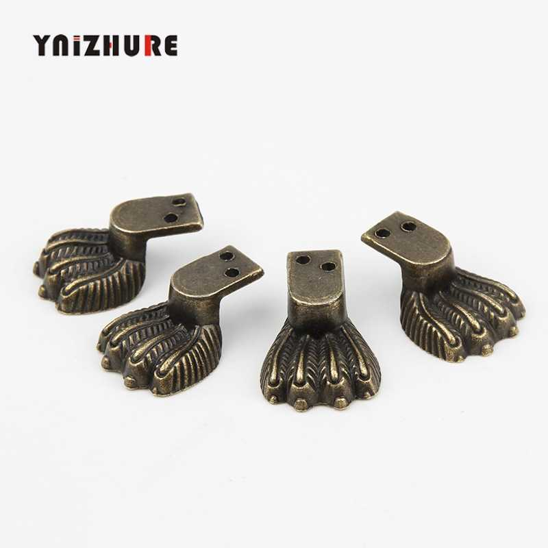 30*12mm 12PCS Zinc Alloy Tiger Footing Decoration Legs Vintage Wooden Box Lizards Feet Cabinet Corner Bronze Tone Color