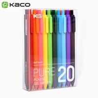 20colors Box KACO PURE Kawaii Candy Color Gel Pen 0 5mm Click Neutural Pens For Children