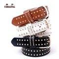 Correa de cuero de imitación de las mujeres de moda OL estilo remache cinturones cinturones de diseño de alta calidad para las mujeres