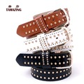 women's faux leather belt fashion OL style belts high quality designer rivet belts for women