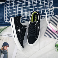 Hip Hop Walking Shoes Edition Single Female Plush Leather Shoes Woman Flat Shoes Round Head With Female Canvas Shoes Large Size