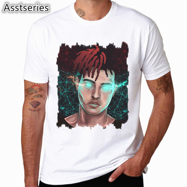 Xxxtentacion Character Print T-Shirt Fashion Casual Fitness Cool O-neck Men's T Shirt Summer Short Sleeve Men Clothing 2