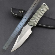3Cr13Mov Blade Material Hardness 55HRC Straight Knife Self-defense Survival Hunting Military Tactical Knives