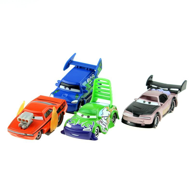 Disney Pixar Cars 4pcs/Lot Snot Rod &Boost &Dj &Wingo 1:55 Diecast Metal Alloy Model Toys Car Gift For Kids