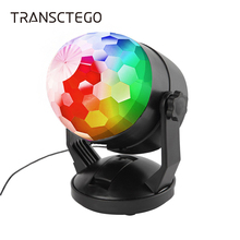 Led Disco Light Lumiere Ball Battery Laser Portable Sound Activated Party Lights For DJ Home Stage Lamp USB Disco Sound Lights sound activated el car decoration sticker crazy urban disco