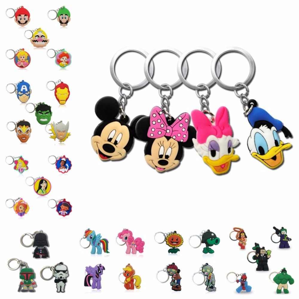 Горячая продажа супер герой принцесса ПВХ мультфильм брелок Аниме Фигурка Микки Мстители Хелло Китти брелок Детская игрушка брелок держатель для ключей