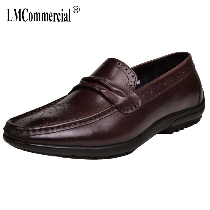 Business Leisure shoes Genuine Leather driving mens shoes designer shoes men high quality men casual natural leather loafers in Men 39 s Casual Shoes from Shoes