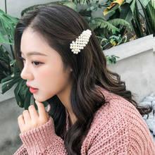 2019 Korean Fashion Pearl Hair hair Clips for Women Lovely Style Hairpins Alloy BB Hairgrip Girls Woman Accessories