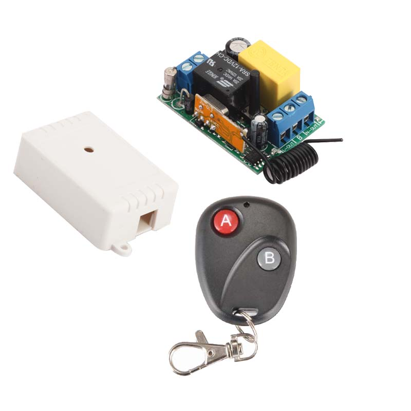 AC220V 1CH 10A Mini Size Wireless Remote Control Switch Receiver&Transmitter For Light Lamp LED SMD ON OFF M T L Adjustable receiver transmitter ac220v 1ch wireless remote control light switch system for light lamp led smd on off 315mhz 433 92mhz