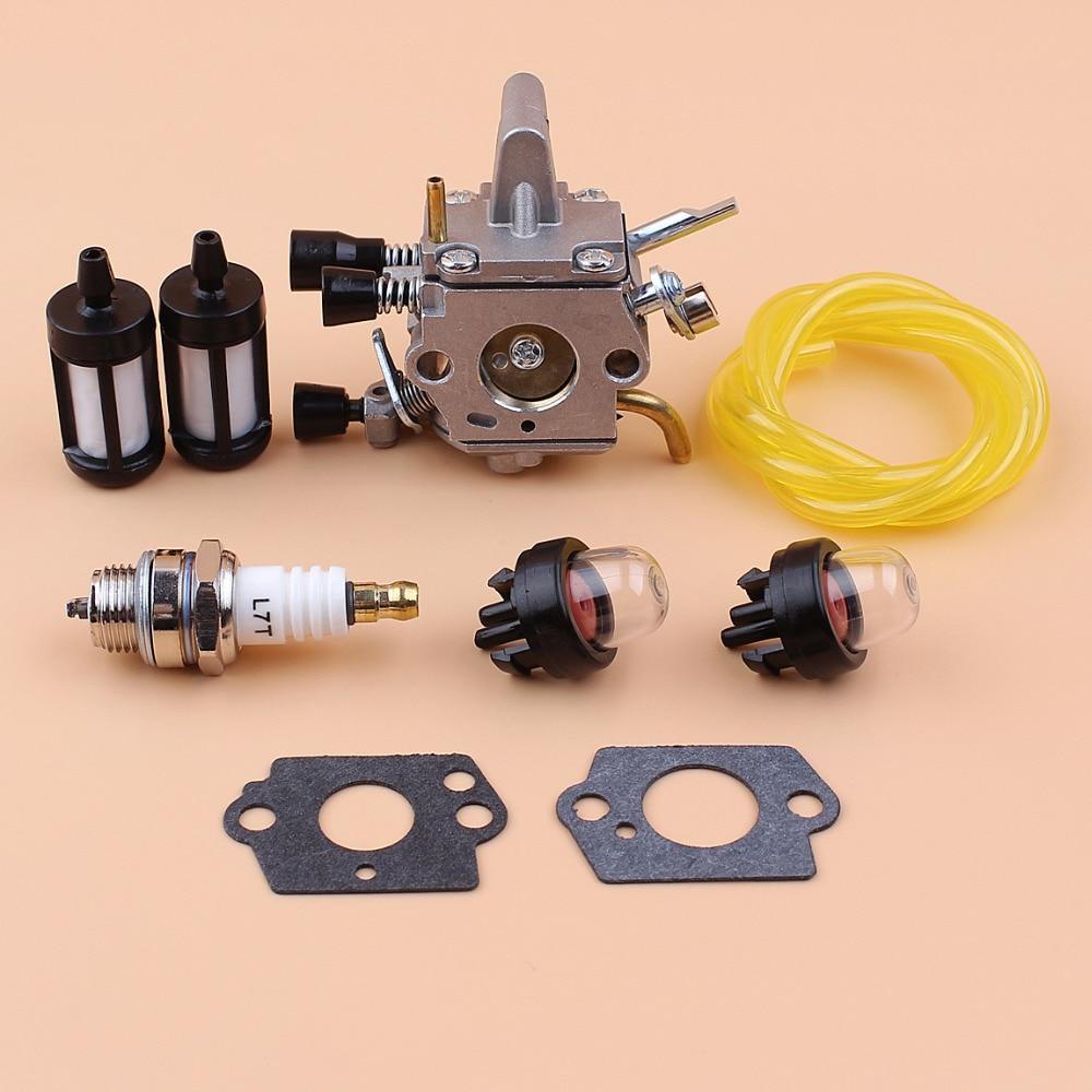 Carburetor Primer Bulb Fuel Filter Kit For STIHL FS120 FS120R FS200 FS200R FS020 FS202 TS200 FS250 FS250R FS300 FS350 Trimmers