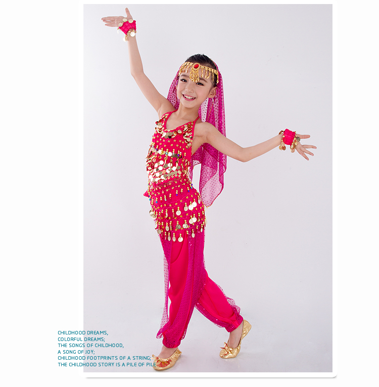HTB1QyM2bbj1gK0jSZFOq6A7GpXac - Kids Belly Dance Costumes Set Oriental Dance Girls Belly Dancing India Belly Dance Clothes Bellydance Child Kids Indian 6 Colors