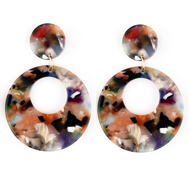 round hollow earrings A159-1